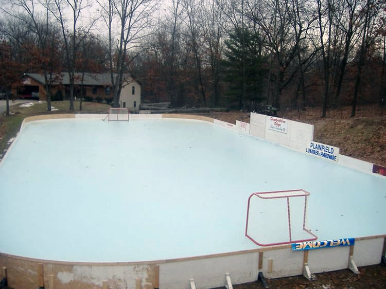 how to prepare your yard for a backyard ice rink multi sports courts