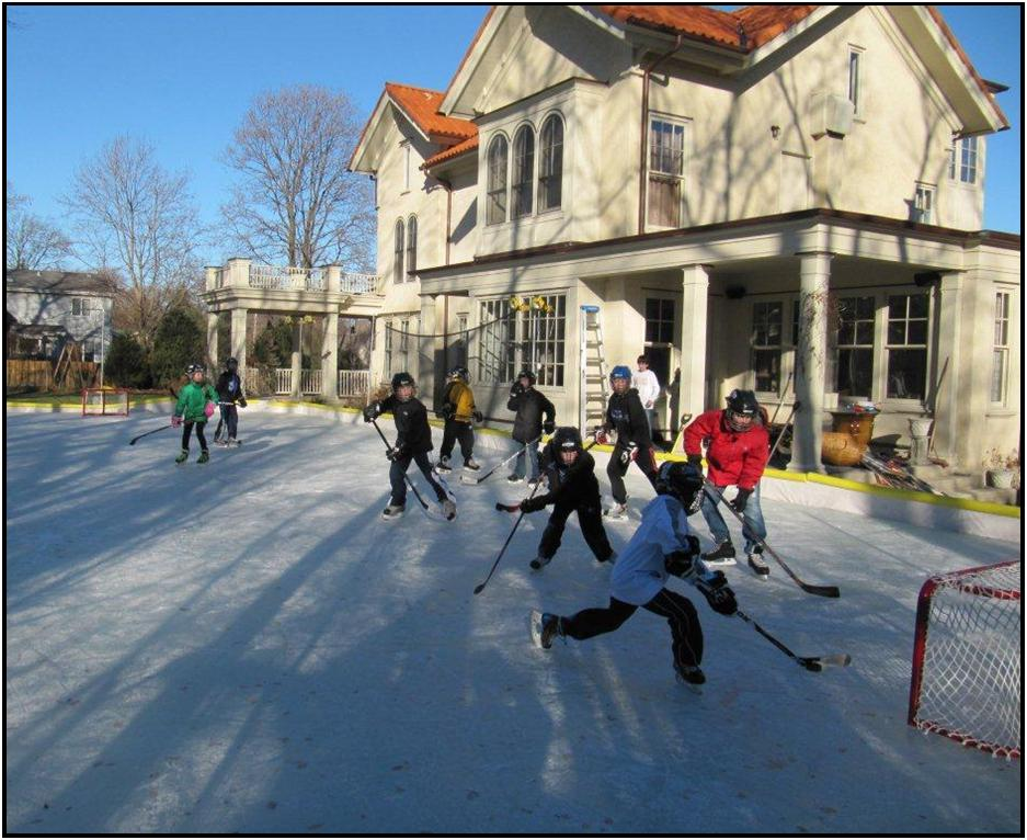 kids-on-backyard rink