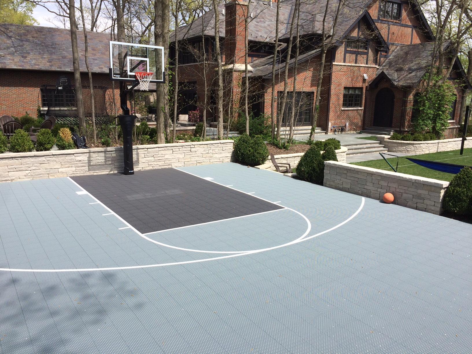 chicago il basketball court installation supreme sports