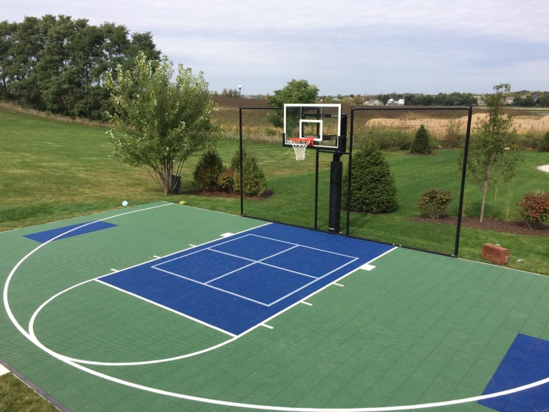 Chicago il basketball court installation supreme sports for Indoor basketball court installation