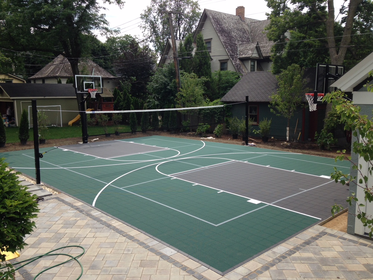 Backyard Basketball Courts Outdoor Goods