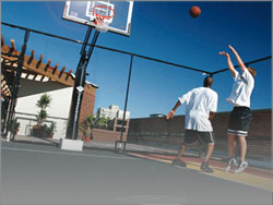 About supreme sports of chicago custom court builder for Outdoor basketball court cost estimate