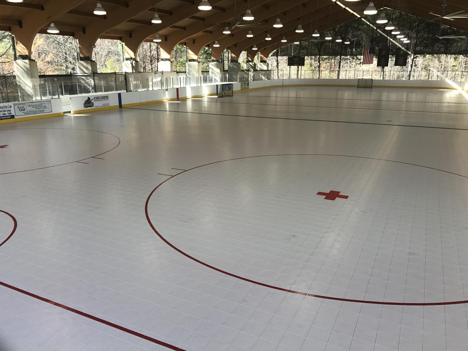 Chicago Roller Hockey arena in daylight